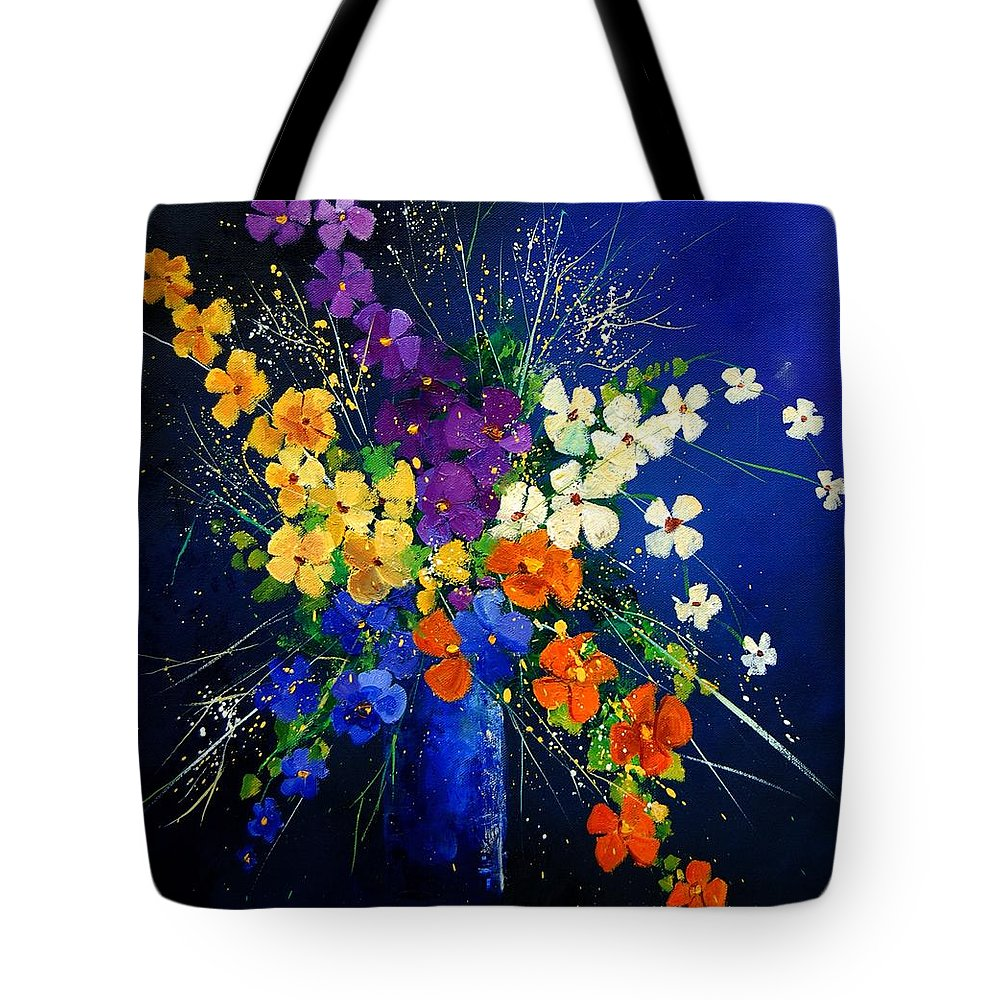 Poppies Tote Bag featuring the print Bunch 0408 by Pol Ledent
