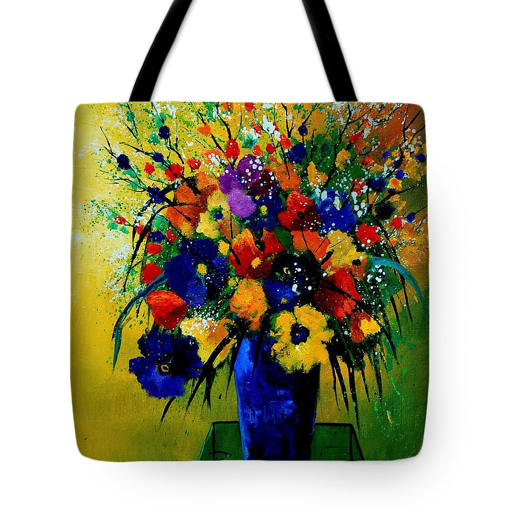 Poppies Tote Bag featuring the painting Bunch 0508 by Pol Ledent