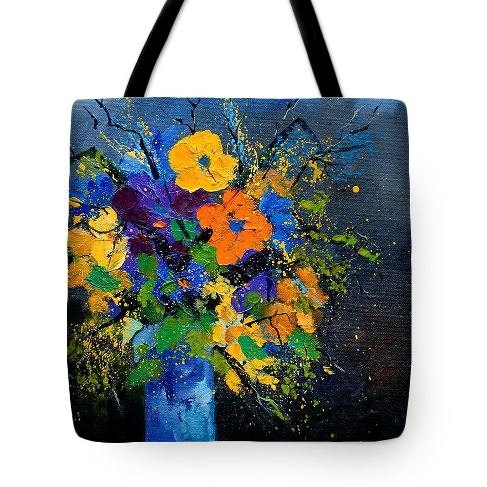 Poppies Tote Bag featuring the painting Bunch 1007 by Pol Ledent