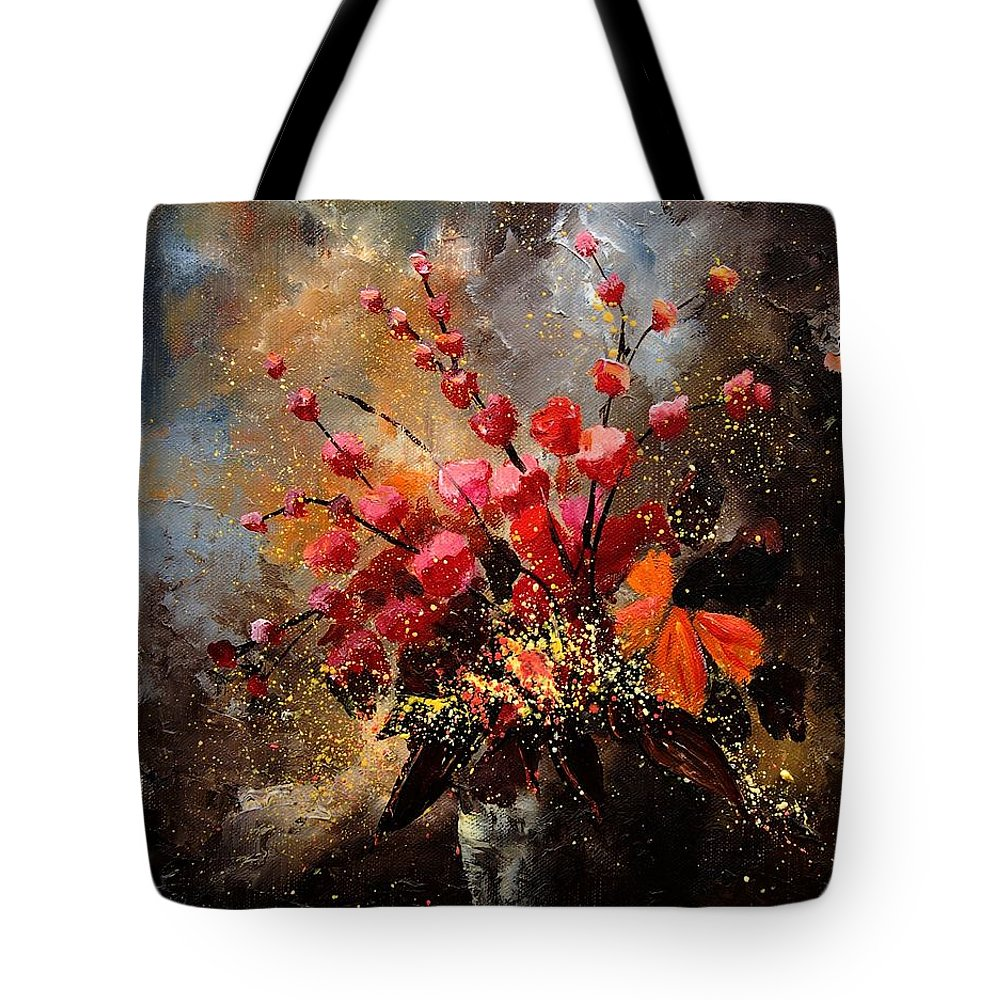 Poppies Tote Bag featuring the painting Bunch 1207 by Pol Ledent