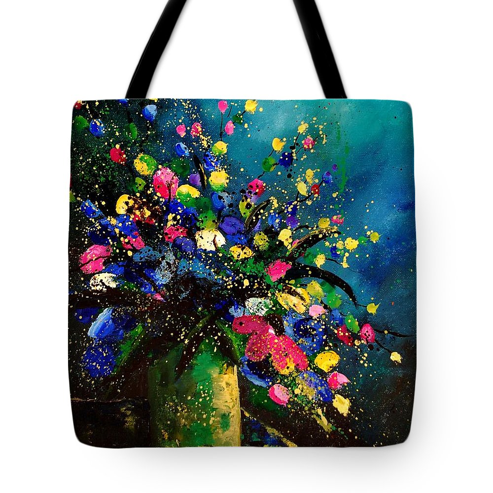 Poppies Tote Bag featuring the painting Bunch 45 by Pol Ledent