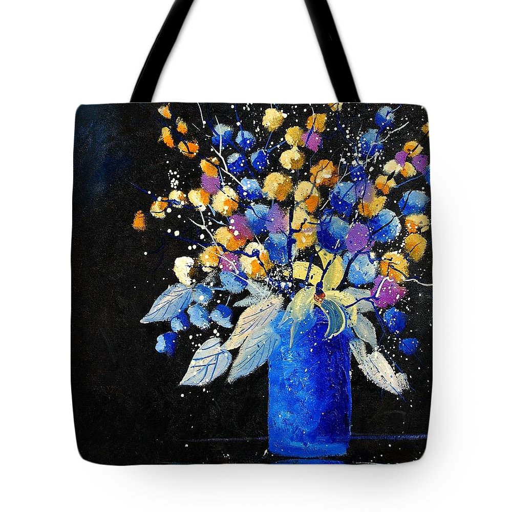 Flowers Tote Bag featuring the painting Bunch 451008 by Pol Ledent