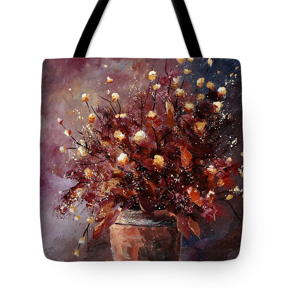 Poppies Tote Bag featuring the painting Bunch 56 by Pol Ledent