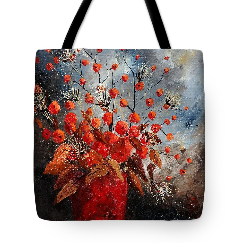 Flowers Tote Bag featuring the painting Bunch 560608 by Pol Ledent