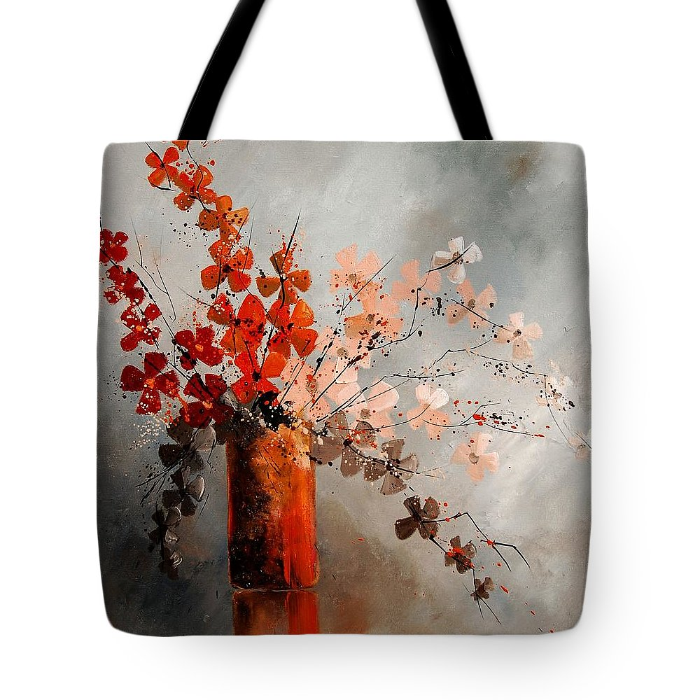 Flowers Tote Bag featuring the painting Bunch 670908 by Pol Ledent