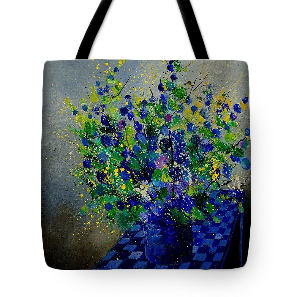 Flowers Tote Bag featuring the painting Bunch 9020 by Pol Ledent