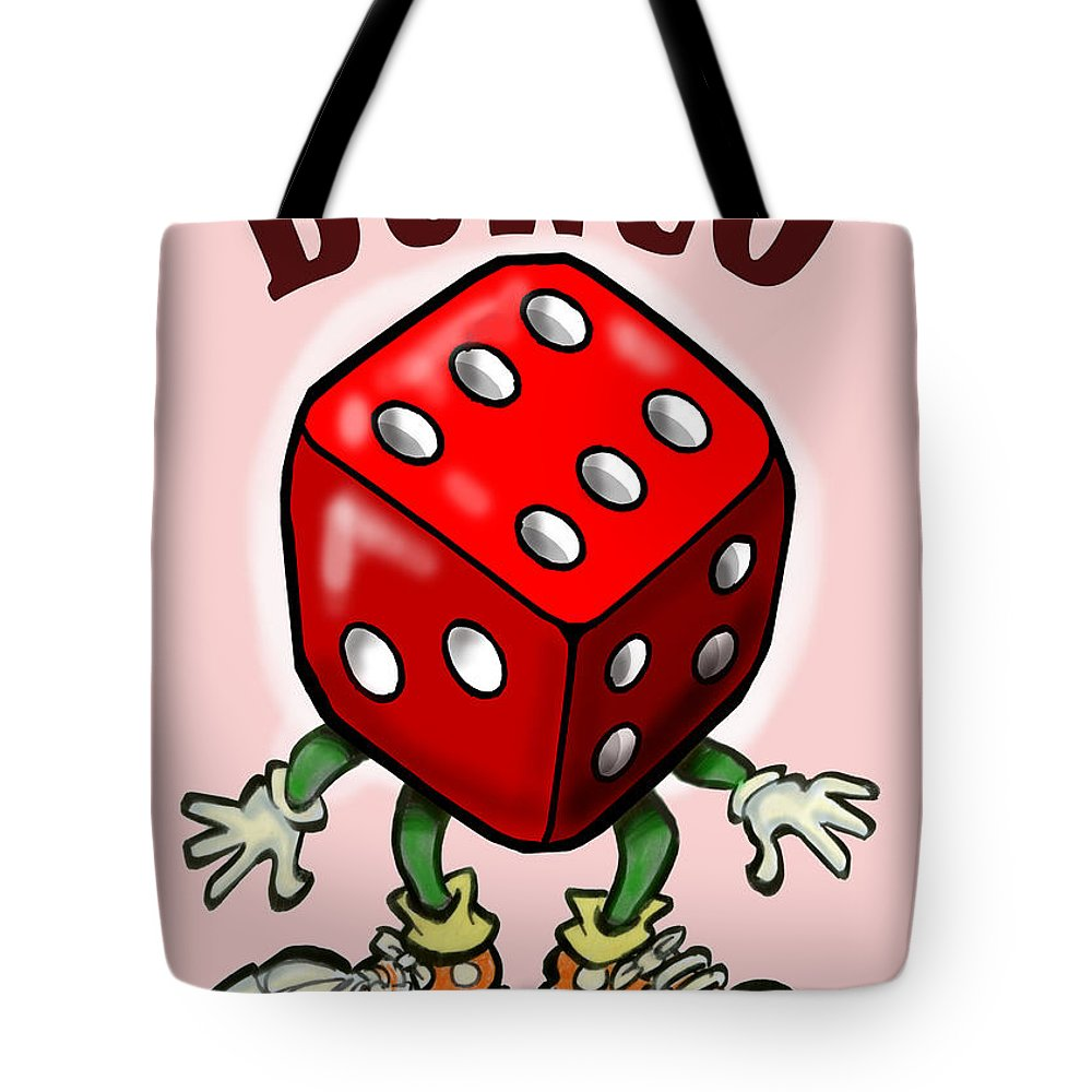 Bunco Tote Bag featuring the greeting card Bunco by Kevin Middleton