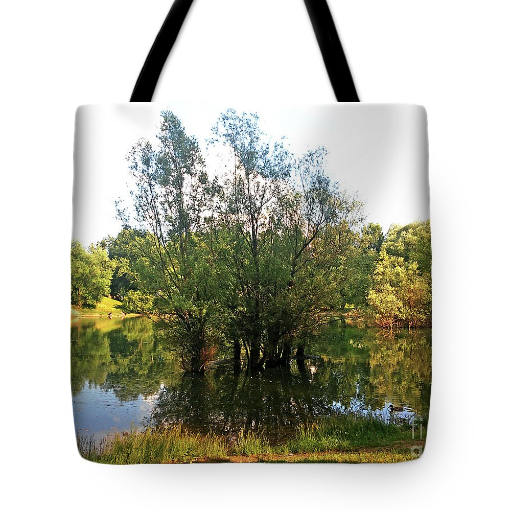 Bundek Tote Bag featuring the photograph Bundek Park Zagreb #3 by Jasna Dragun
