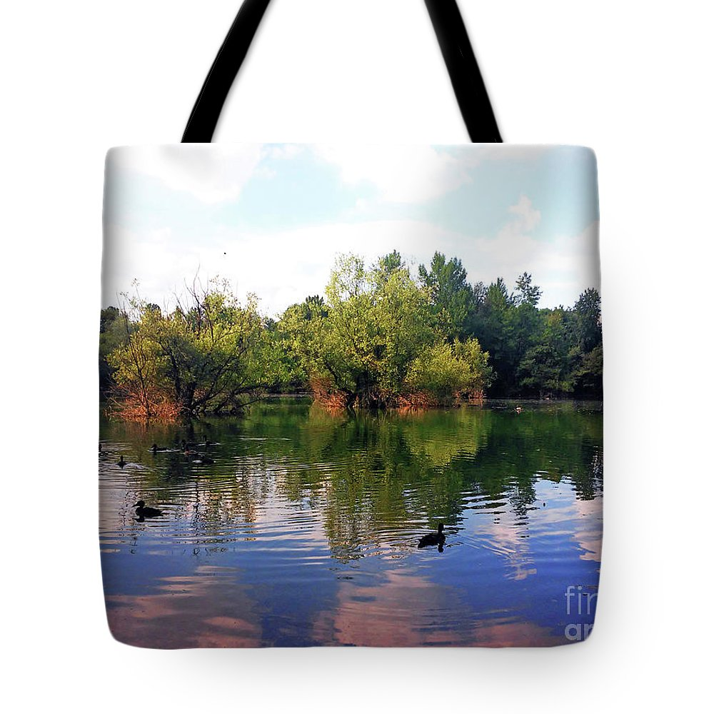 Bundek Tote Bag featuring the photograph Bundek Park Zagreb by Jasna Dragun