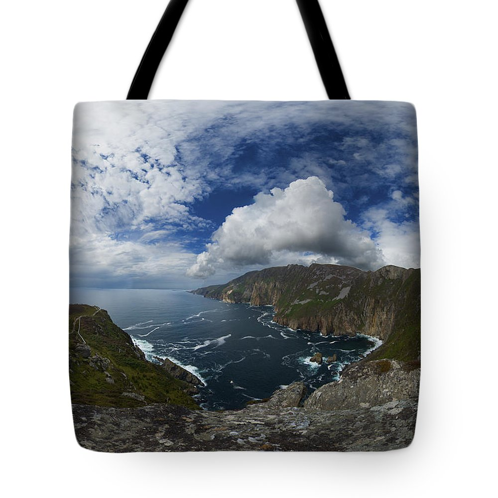 Donegal Tote Bag featuring the photograph Bunglas Highest Sea Cliffs In Europe by George Row