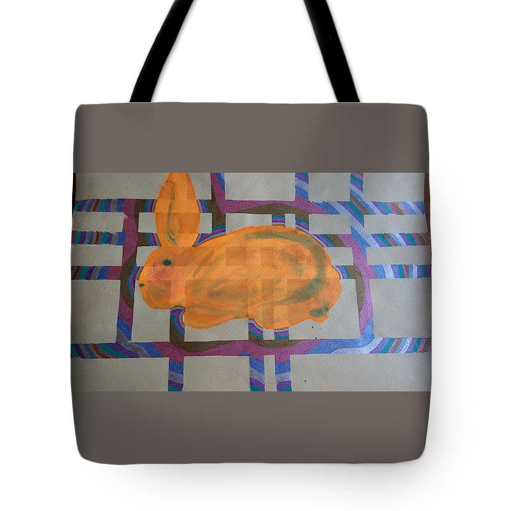 Bunny Tote Bag featuring the painting Bunny by Peter Adam