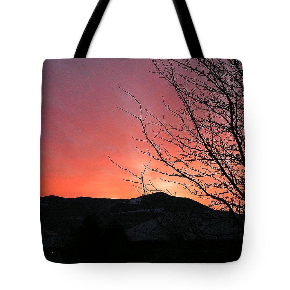 Sunrise Tote Bag featuring the photograph Burlington Sunrise by Louise Magno