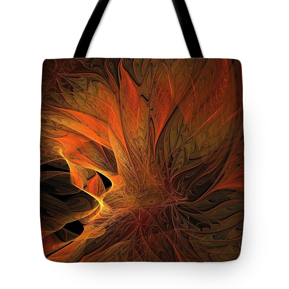 Digital Art Tote Bag featuring the digital art Burn by Amanda Moore