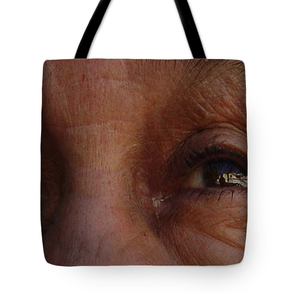 Eyes Tote Bag featuring the photograph Burned Eyes by Peter Piatt