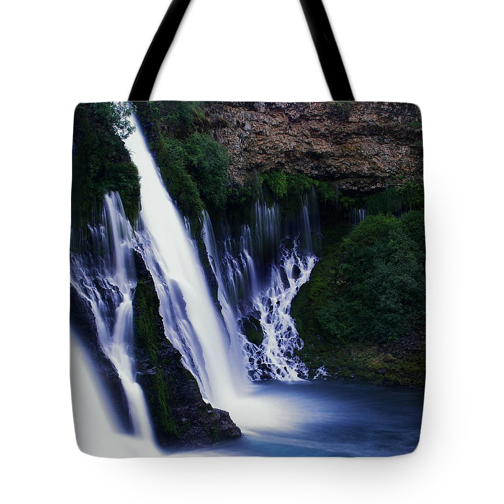 River Tote Bag featuring the photograph Burney Blues by Peter Piatt