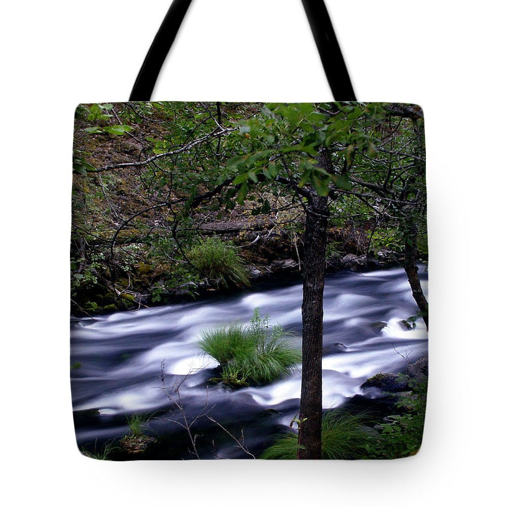 River Tote Bag featuring the photograph Burney Creek by Peter Piatt