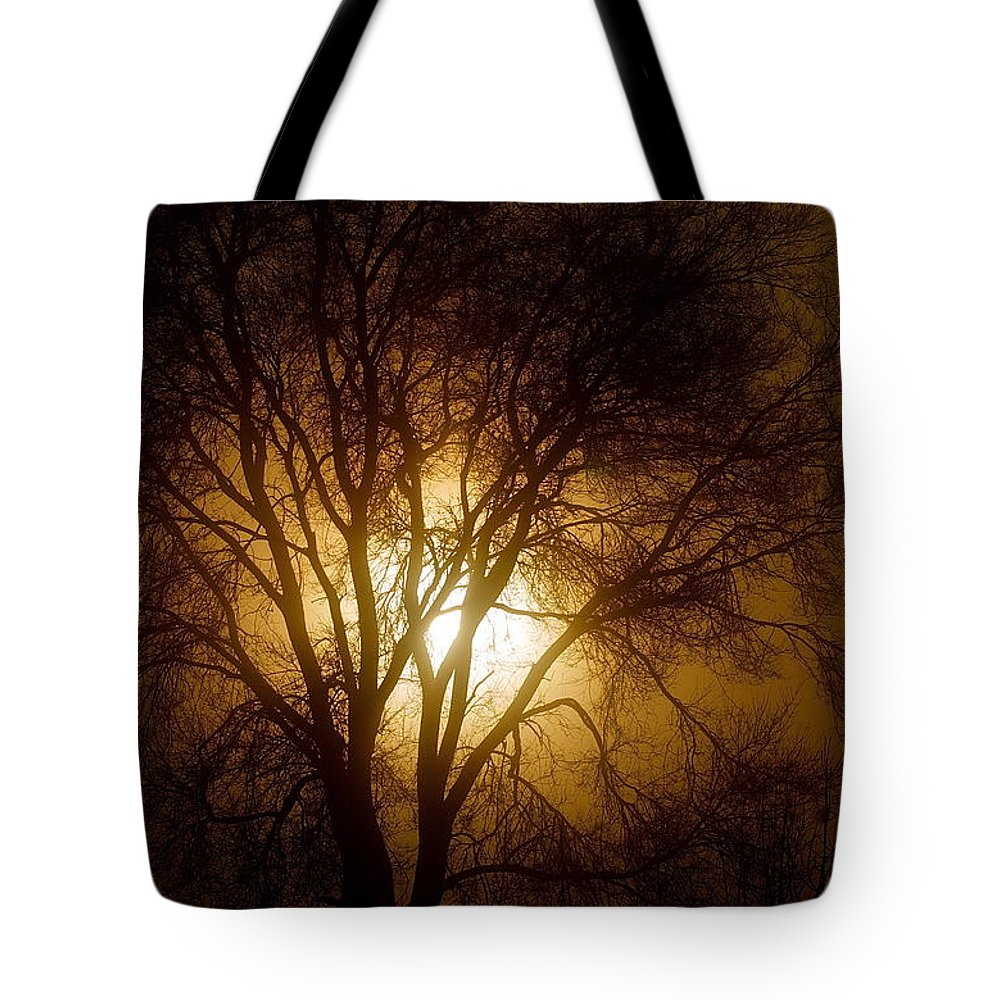Scenic Tote Bag featuring the photograph Burning Bush by Mark Lemon
