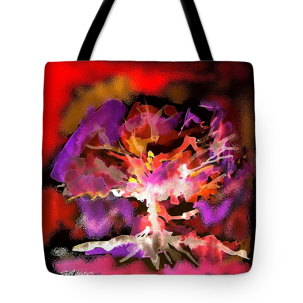 Bible Tote Bag featuring the digital art Burning Bush by Seth Weaver