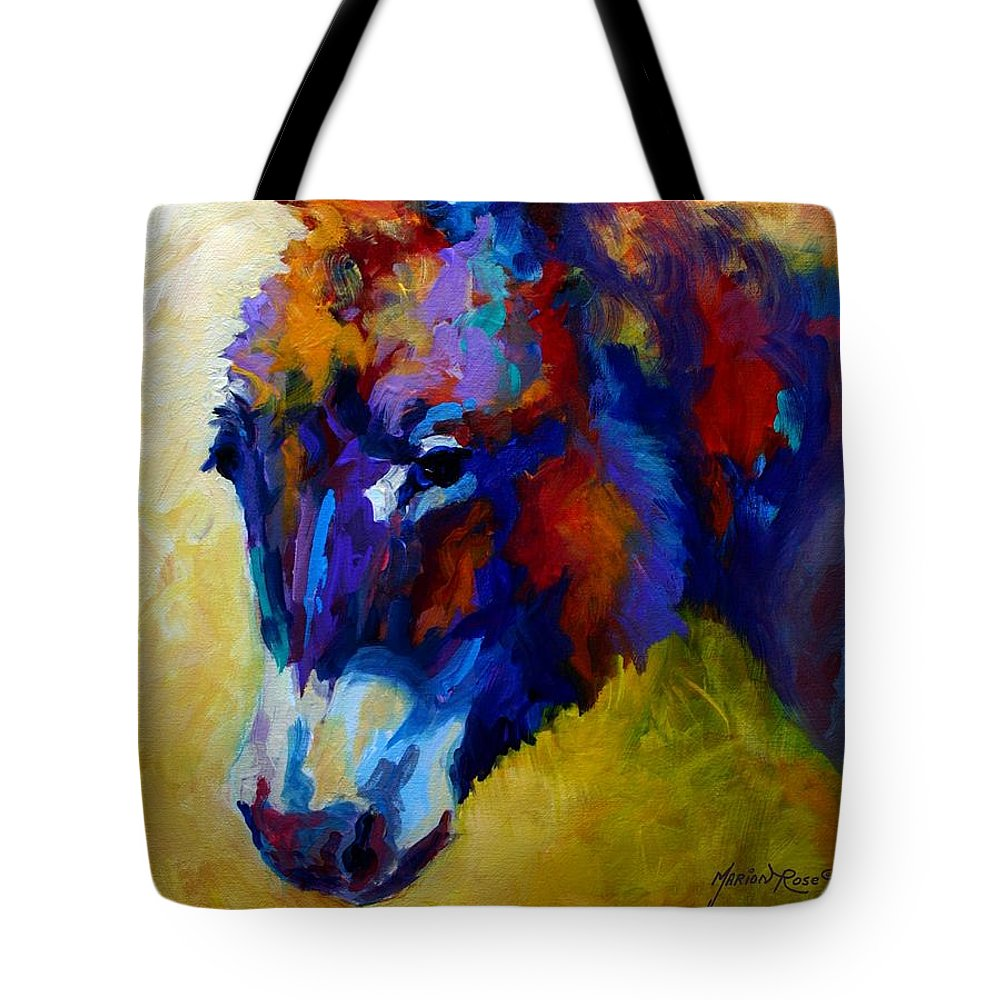 Western Tote Bag featuring the painting Burro II by Marion Rose