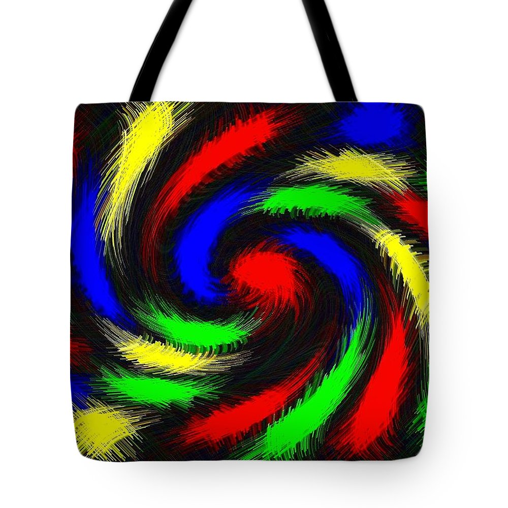 Colorful Tote Bag featuring the digital art Burst Of Color by Will Borden