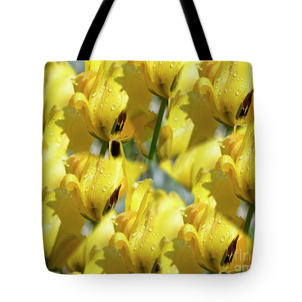 Yellow Tote Bag featuring the photograph Burst Of Yellow by Traci Cottingham