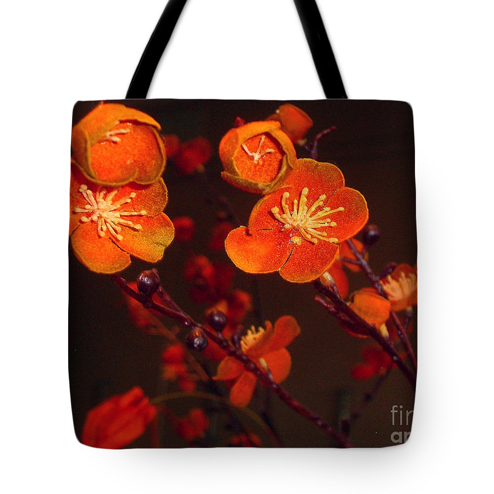 Flowers Tote Bag featuring the photograph Bursting Into Bloom by Merton Allen