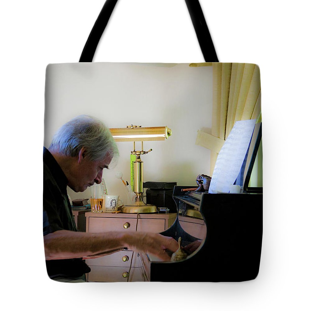 Jazz Tote Bag featuring the photograph Burton Greene 1 by Lee Santa