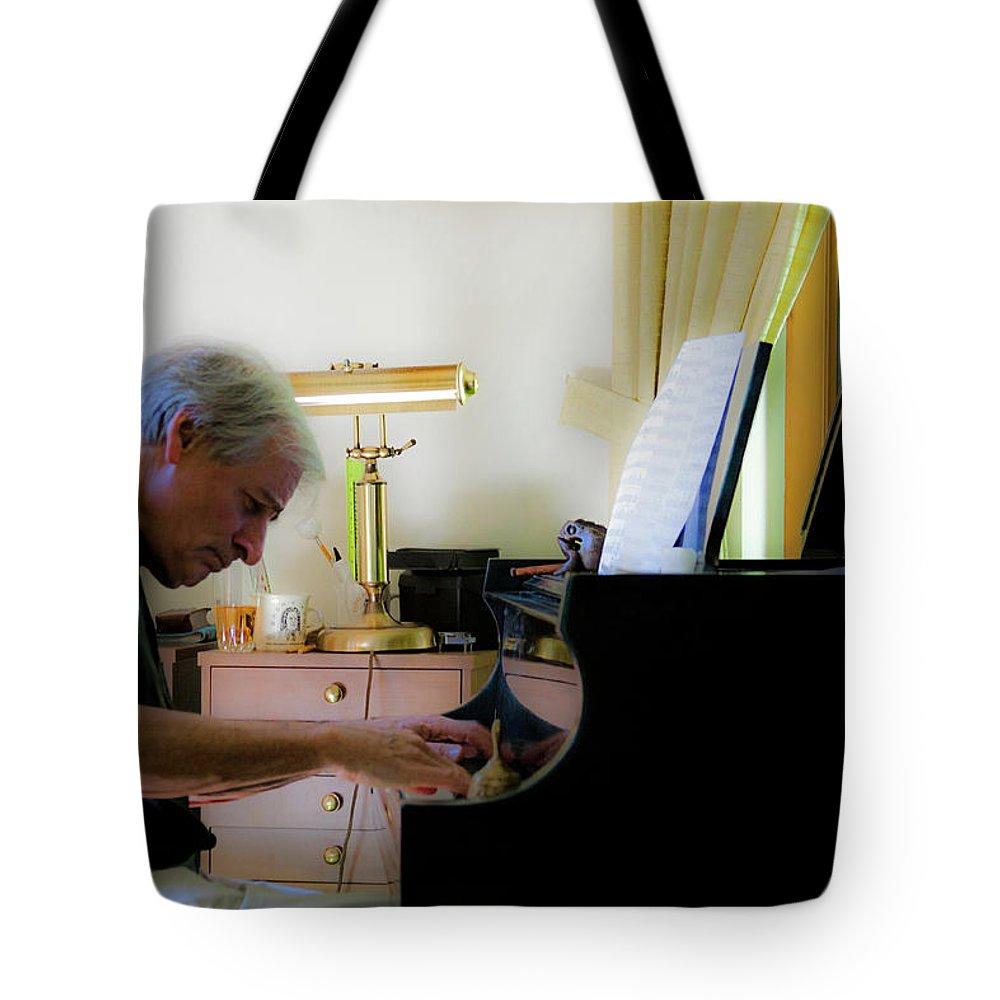 Jazz Tote Bag featuring the photograph Burton Greene 2 by Lee Santa