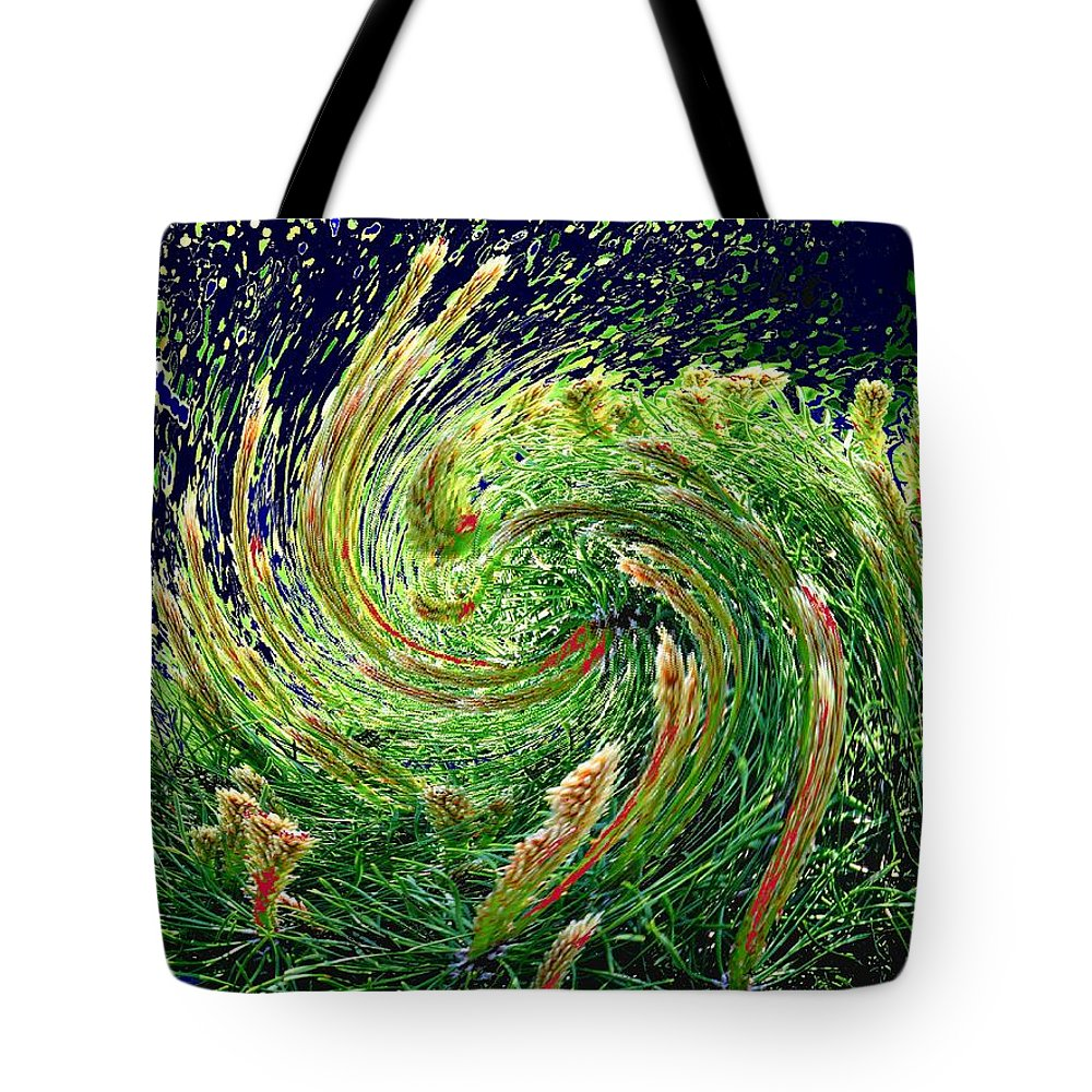 Pine Tote Bag featuring the photograph Bush In Transition by Ian MacDonald