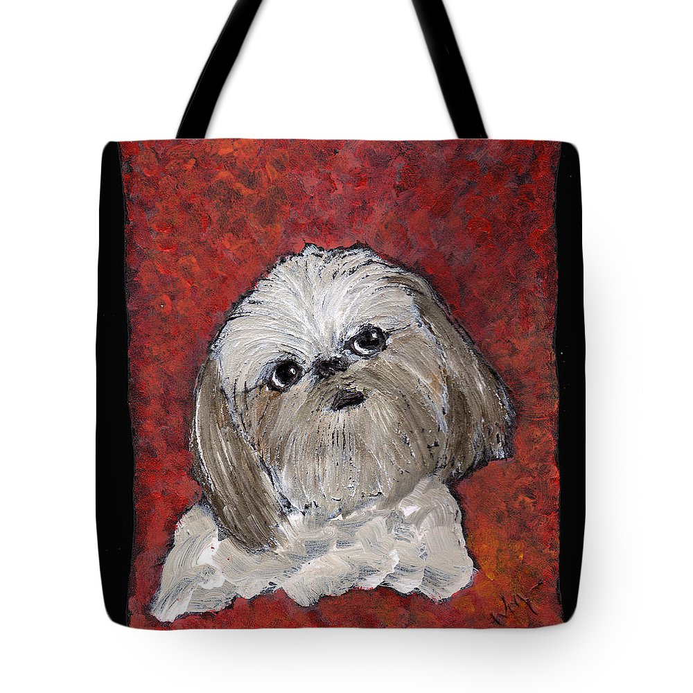 Dog Tote Bag featuring the painting Buster by Wayne Potrafka