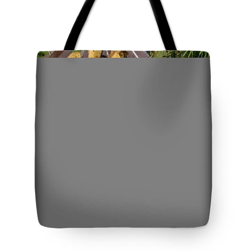Harley Davidson Tote Bag featuring the photograph Bustin Out by Cindi Poole