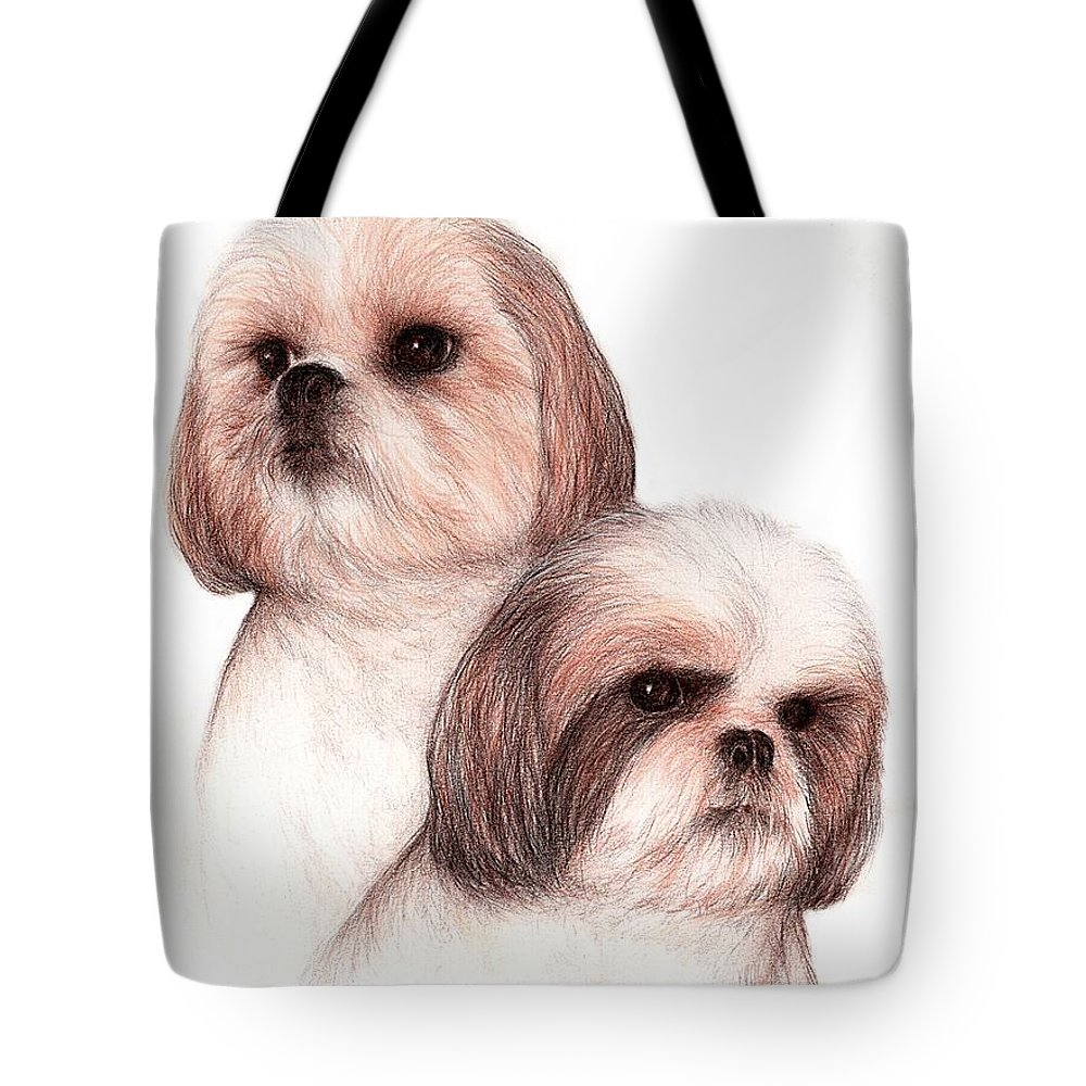 Dog Art Bruce Lennon Animals Tote Bag featuring the painting Butch And Bruser by Bruce Lennon