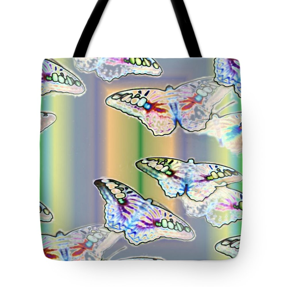 Butterflies Tote Bag featuring the photograph Butterflies In The Vortex by Tim Allen