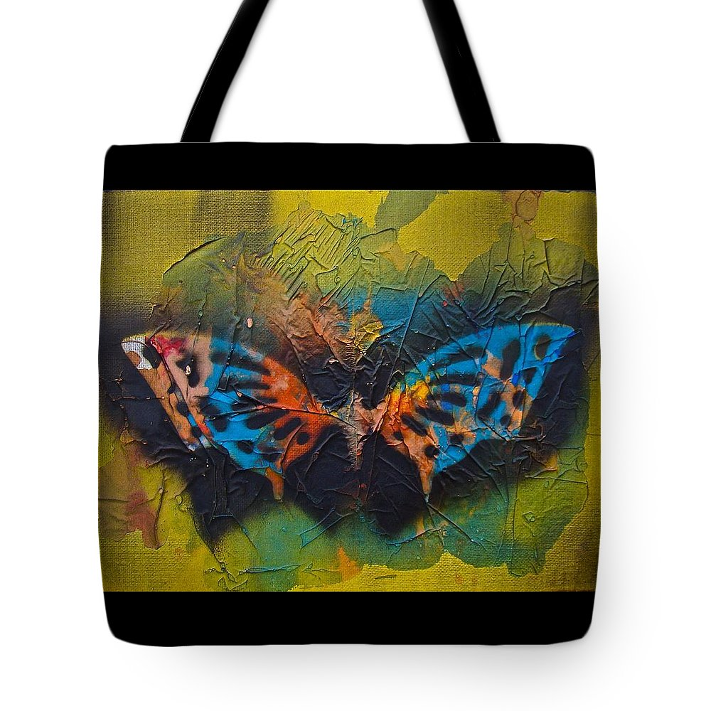 Butterfly Tote Bag featuring the mixed media Butterfly 01 by Alice Schwager