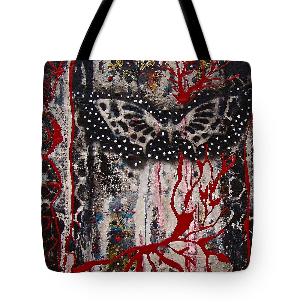 Butterfly Tote Bag featuring the mixed media Butterfly 04 by Alice Schwager