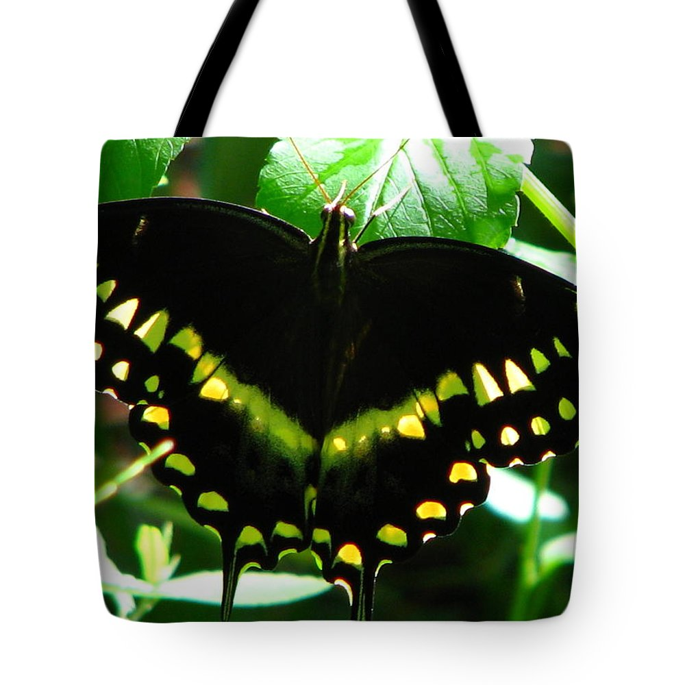 Patzer Tote Bag featuring the photograph Butterfly Art 3 by Greg Patzer