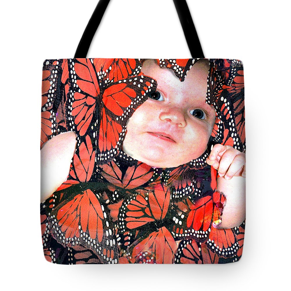 Butterfly Tote Bag featuring the photograph Butterfly Baby by Seth Weaver