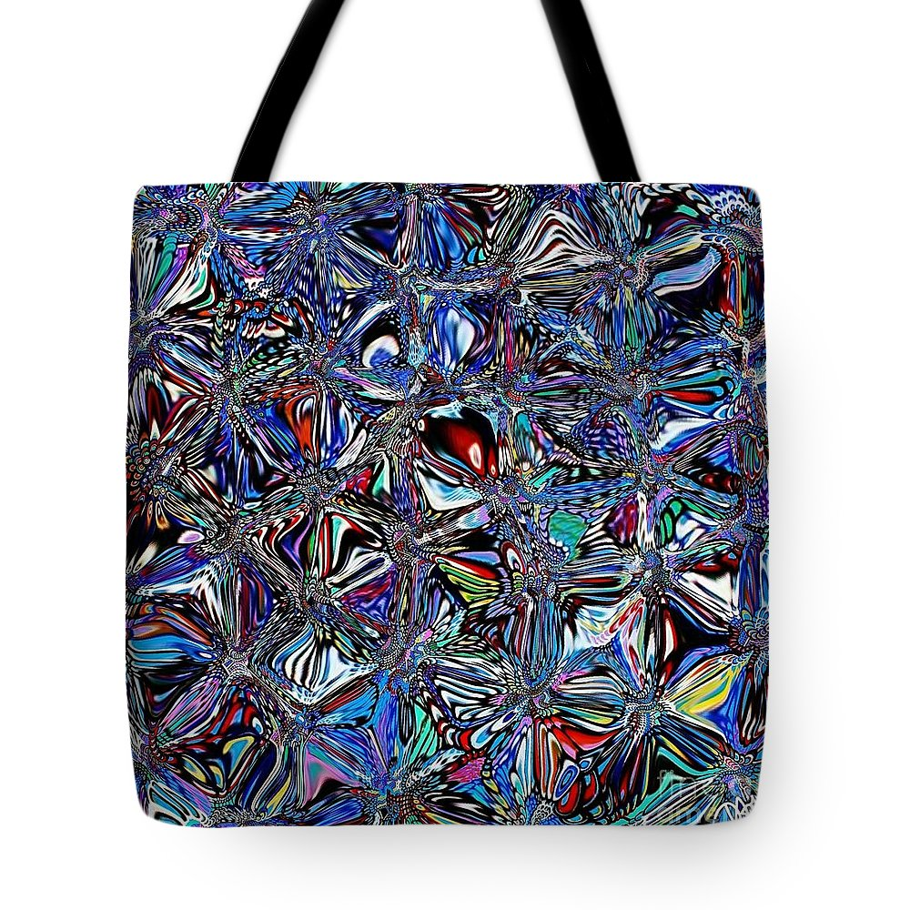 Butterfly Tote Bag featuring the digital art Butterfly Butterfry by Diane Holman