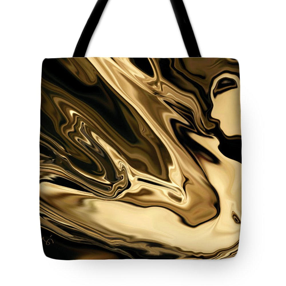 Abstract Tote Bag featuring the digital art Butterfly Girl 3 by Rabi Khan