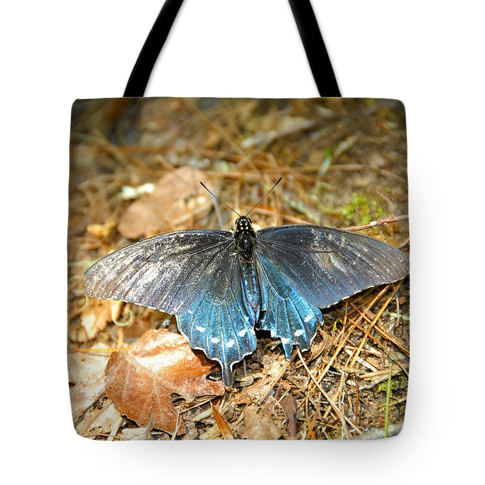 Butterfly Tote Bag featuring the photograph Butterfly In The Forest by David Lee Thompson