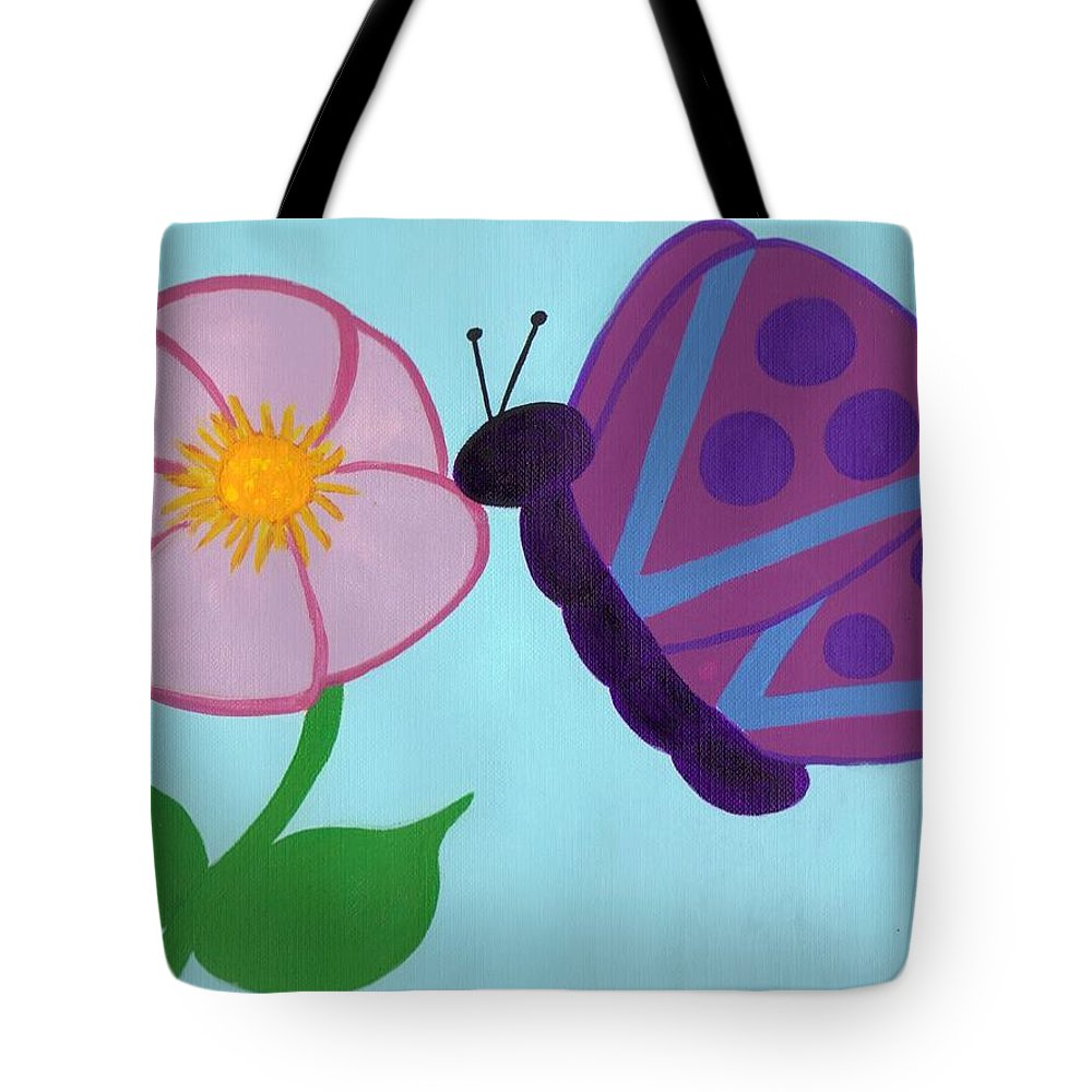 Butterflies Tote Bag featuring the painting Butterfly by Jill Christensen