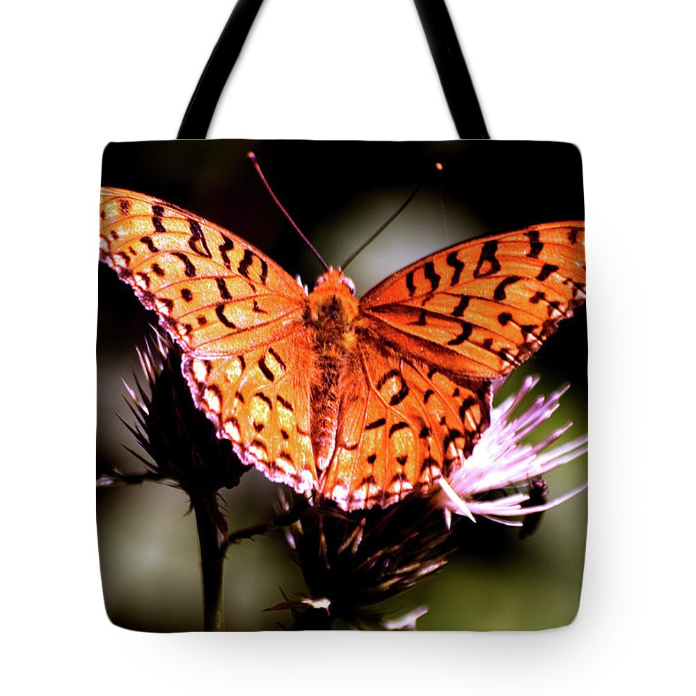 Butterfly Tote Bag featuring the photograph Butterfly by Mark Ivins