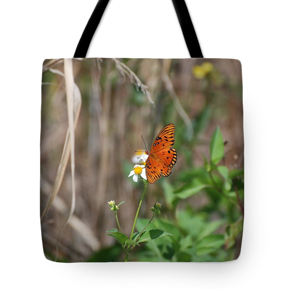 Nature Tote Bag featuring the photograph Butterfly On Flower by Rob Hans