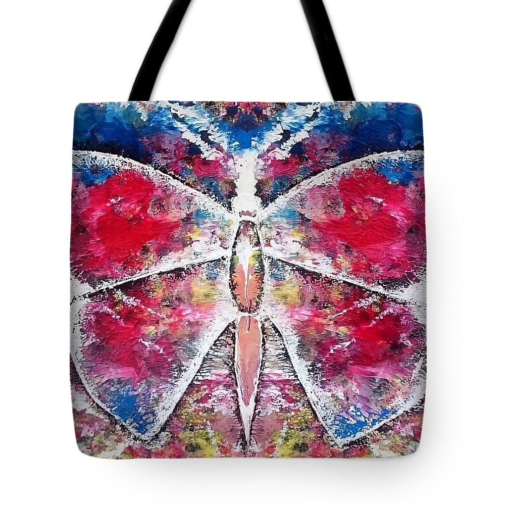 Tote Bag featuring the painting Butterfly by Pruthvi Indla