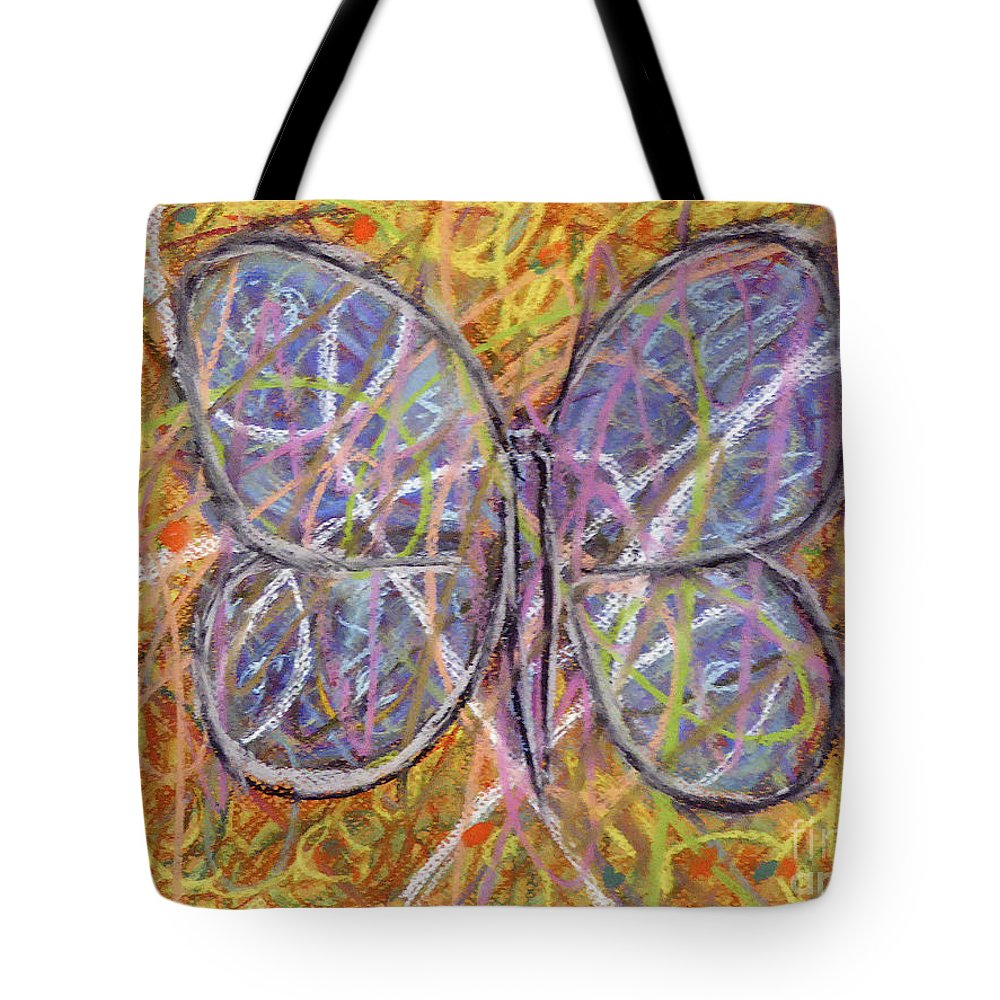 Tote Bag featuring the painting Butterfly by Roberto Concha