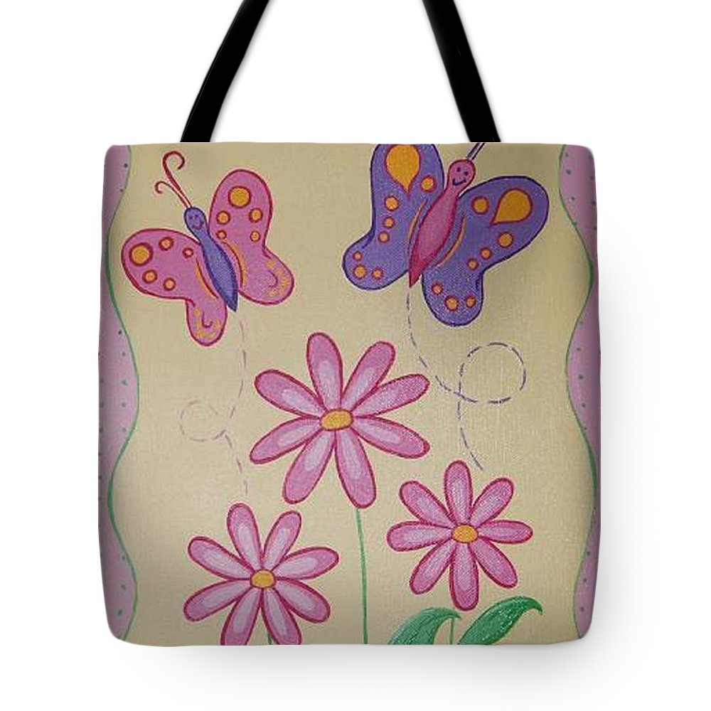 Butterflu Tote Bag featuring the painting Butterfly Smiles by Valerie Carpenter