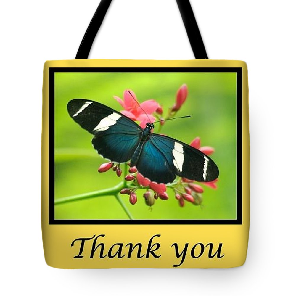 Note Card Tote Bag featuring the photograph Butterfly Thank You Card by Michael Peychich