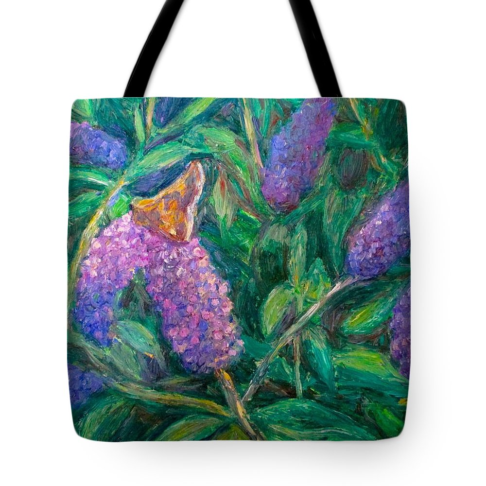 Butterfly Tote Bag featuring the painting Butterfly View by Kendall Kessler