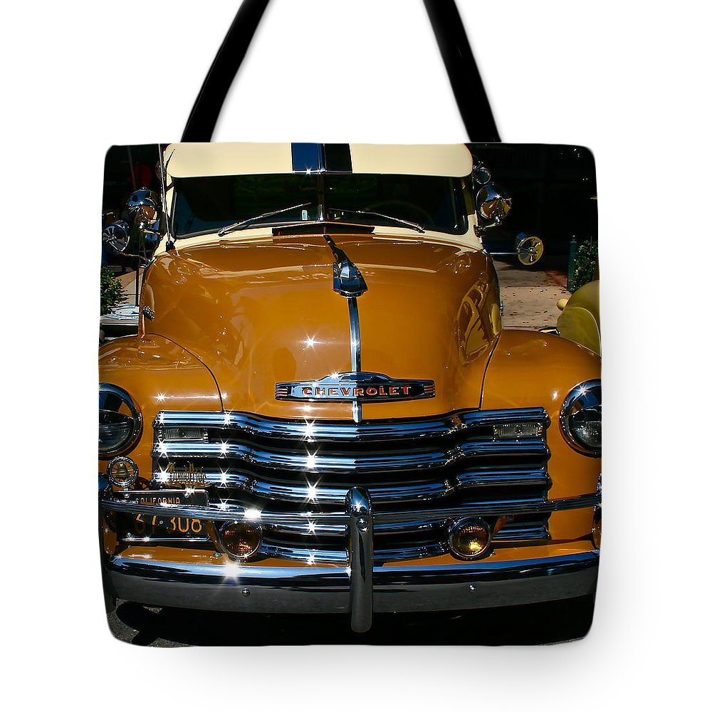 Photograph Of Chevrolet Tote Bag featuring the photograph Butterscotch by Gwyn Newcombe