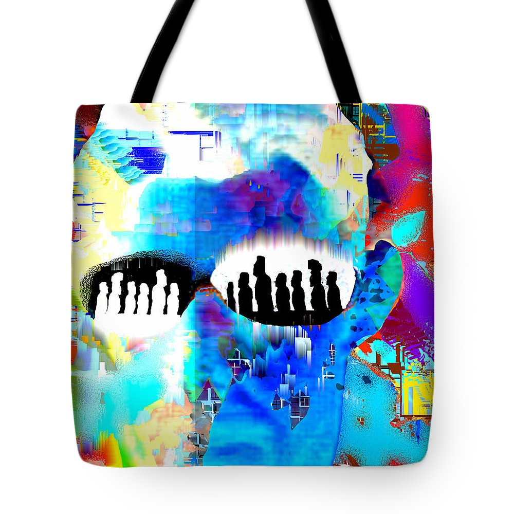 Button Down Tote Bag featuring the digital art Button Down Disasters by Seth Weaver